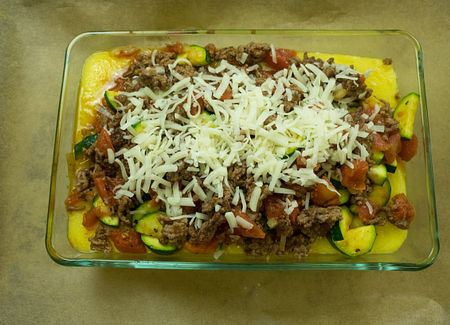 Place beef mix on top and bake