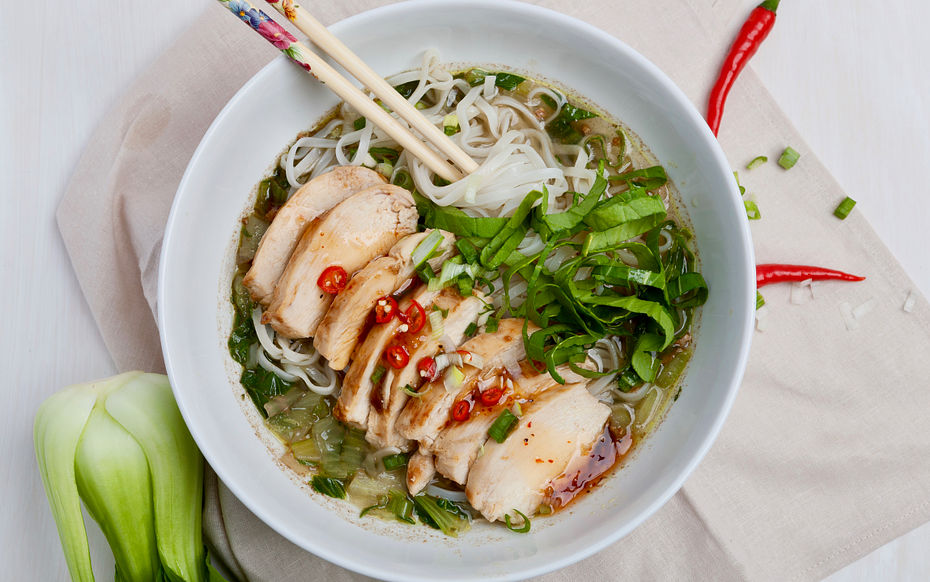 Hoisin-Glazed chicken soup