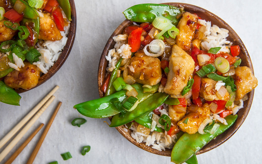 Sweet and Sour Chicken Wok