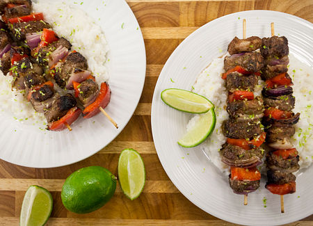 Serve and garnish with lime