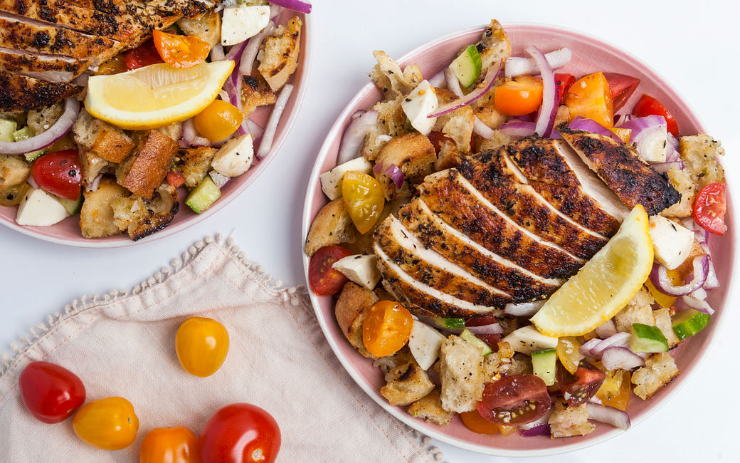 Italian Herbed Grilled Chicken with Summer Panzanella
