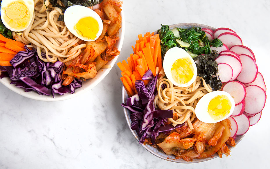 Vegetable and Udon Noodle Bibimbap