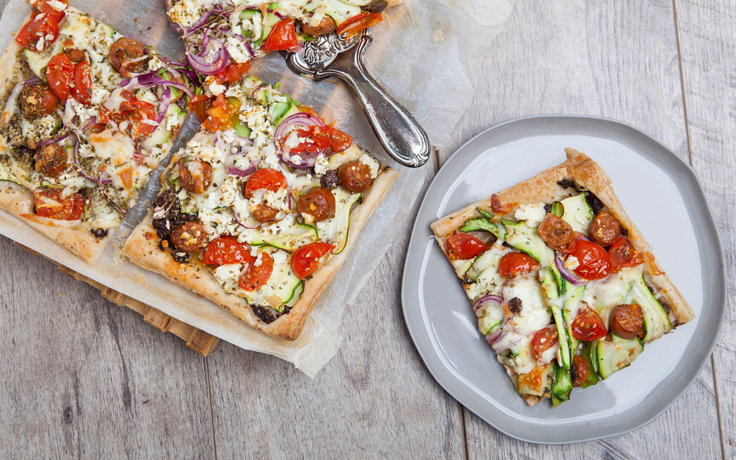 Greek Puff Pastry Pizzas