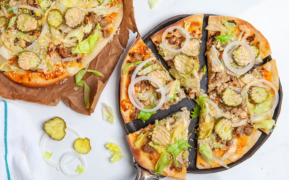 Turkey Burger Pizzas