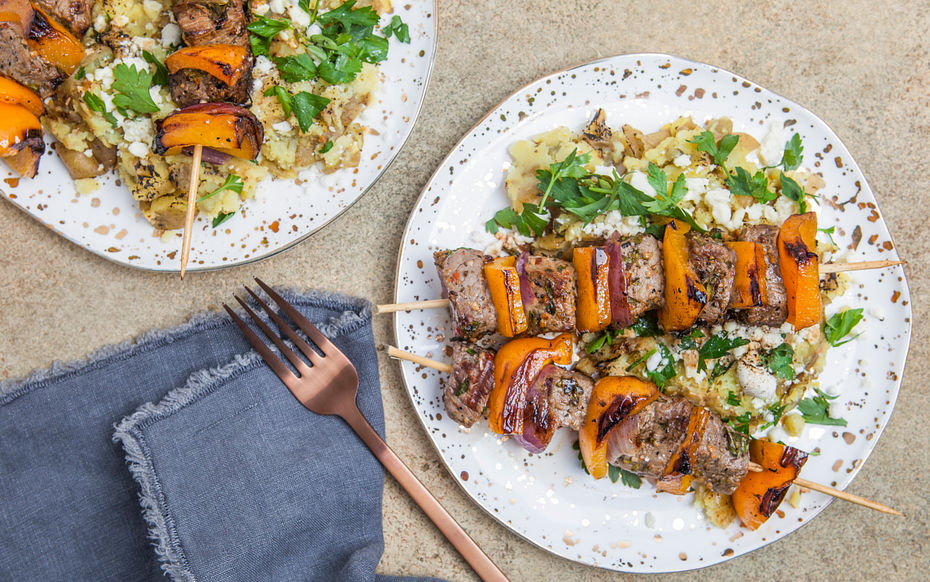 Herbed Steak Skewers