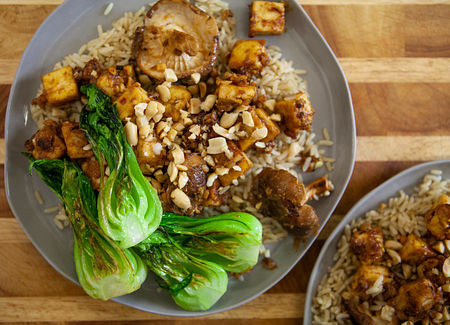 Grill the bok choy