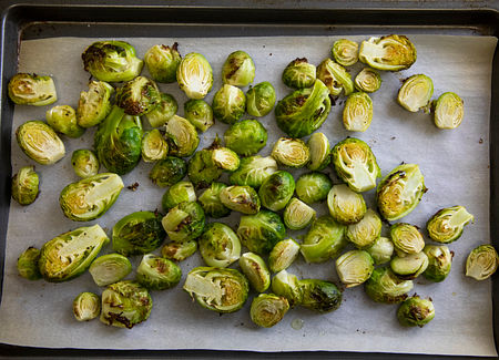Cook the brussels sprouts