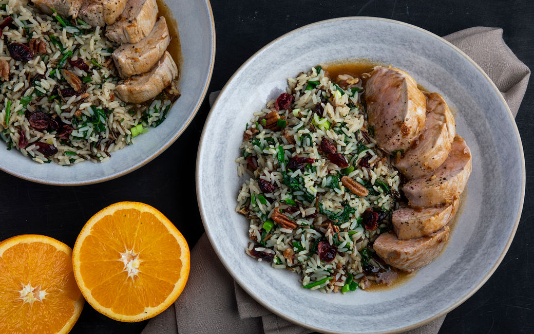 Roasted Pork Tenderloin with Orange-Ginger Sauce