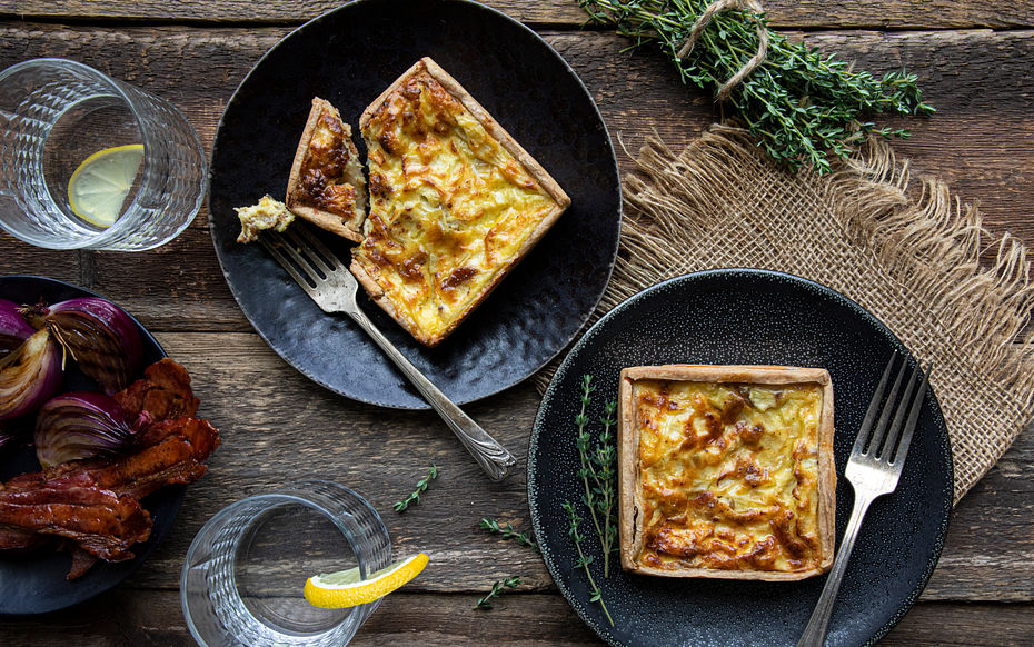 Bacon Onion Quiches