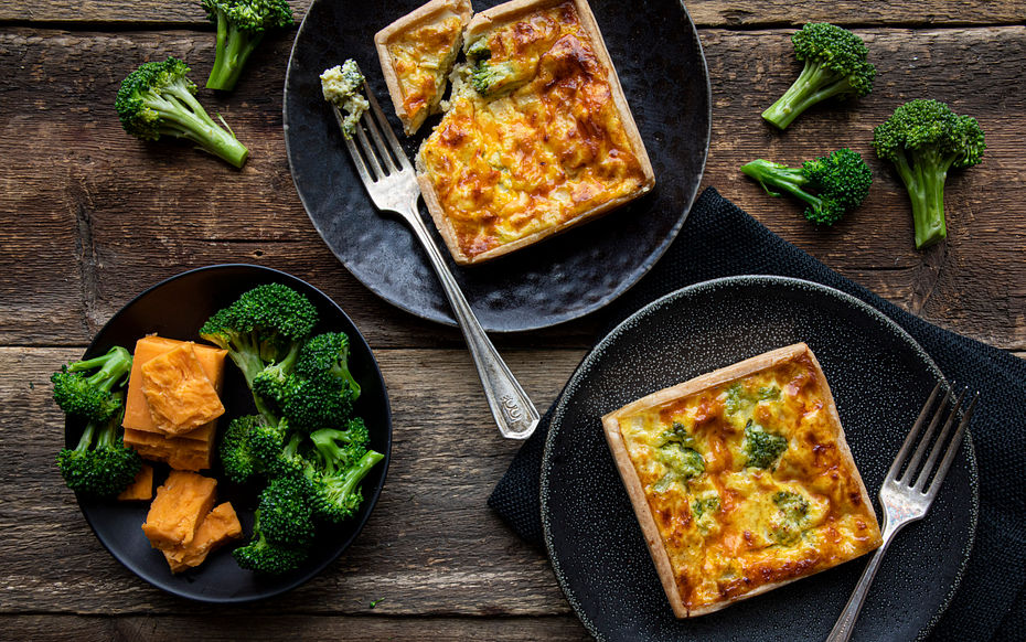 """Broccoli Cheddar Quiches (2 x 4"""""""""""""""")"""""""""""""""