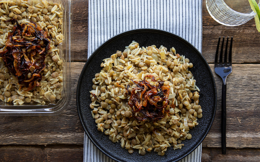 Rice Salad with Lentils