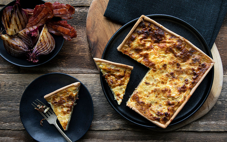 """Onion & Bacon Quiche (1 x 7"""""""""""""""")"""""""""""""""