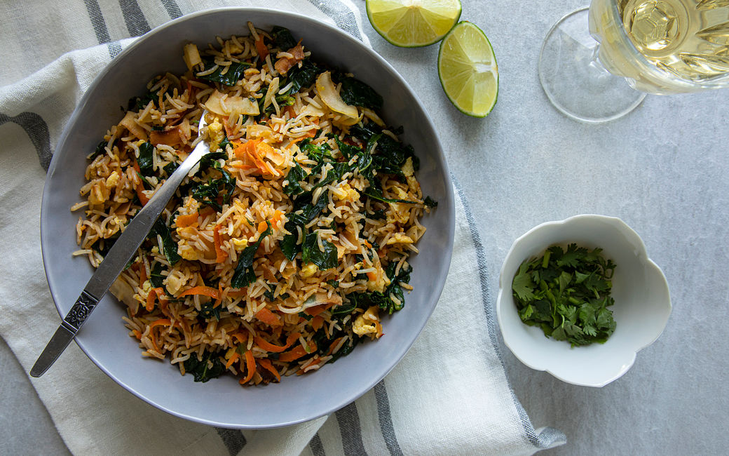 Kale and Coconut Fried Rice