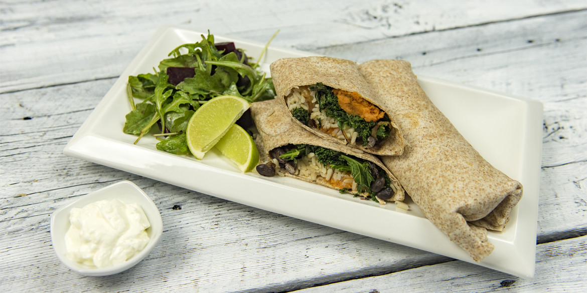 Sweet Potato & Kale Wraps Recipe — Dishmaps