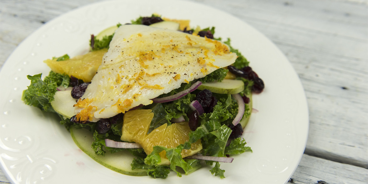 Kale and White fish Salad