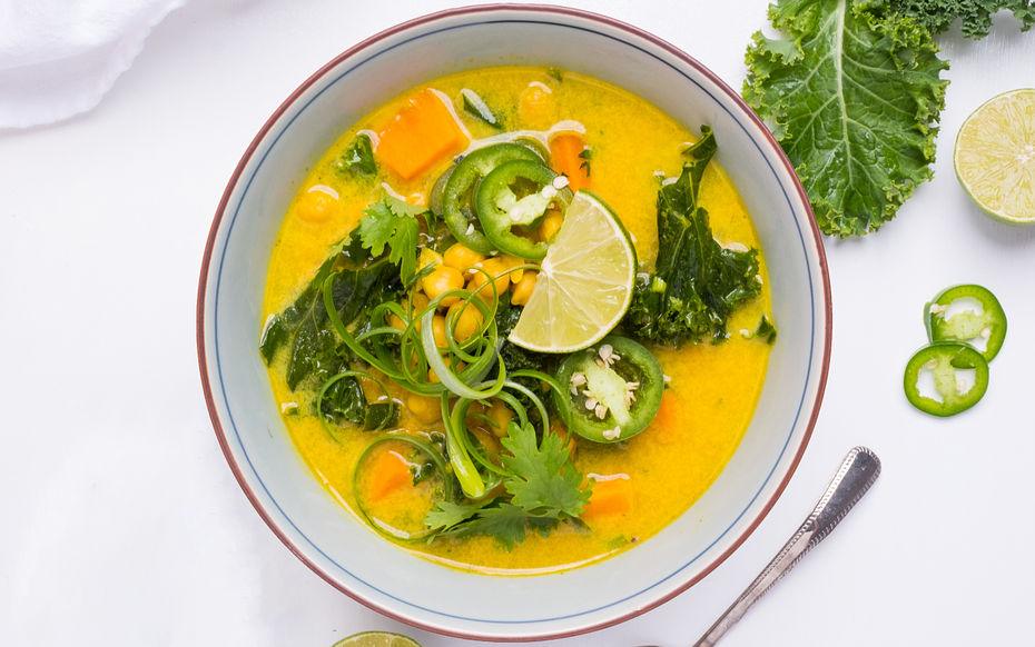 Spicy Kale and Coconut Soup